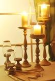 Velas y candeleros Fotos de archivo libres de regalías
