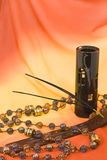 Velas y lámpara perfumadas Foto de archivo