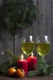 Velas y luces de la Navidad Imagenes de archivo
