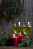 Velas y luces de la Navidad Fotos de archivo libres de regalías