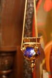 Velas y primer de la lámpara Foto de archivo libre de regalías