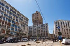 Velasca塔,米兰第一个摩天大楼  免版税库存图片