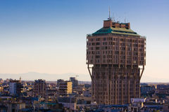 Velasca tower - Milan royalty free stock images