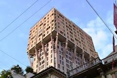 Velasca-Turm, einer von im Stadtzentrum gelegenen alten Wolkenkratzern Mailand-Stadt lizenzfreie stockfotografie