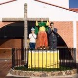 Velatorio (kapellet av vilar), i Copacabana, Bolivia Arkivbilder