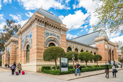 Velazquez Palace in Retiro park of Madrid Royalty Free Stock Photo