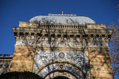 Velazquez palace in the Retiro park, Madrid Spain. Rock Royalty Free Stock Images