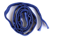 Velcro. Fastener in the form of blue Royalty Free Stock Photo