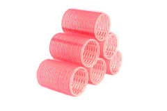 Velcro hair rollers curlers Stock Images