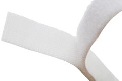 Velcro strip. Of white color isolated over white Royalty Free Stock Images