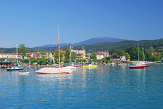 Velden,Lake Woerthersee Stock Photography