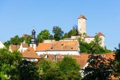 Veldenstein城堡在诺伊豪斯der佩格尼茨 库存照片