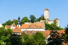 Veldenstein slott i Neuhaus en der Pegnitz arkivfoton