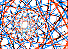 Vele abstracte gekrulde lijnen op witte achtergronden royalty-vrije illustratie