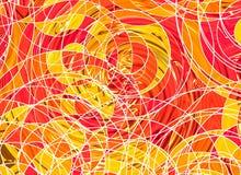 Vele abstracte gekrulde lijnen op witte achtergronden vector illustratie