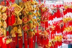 Vele amulet gunstig van de Chinezen De brieven in het beeld betekenen stock foto