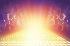 Vele audio correcte sprekers op het stadium van de verlichtingsmuziek royalty-vrije stock fotografie