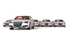 Vele auto's voor verkoop stock illustratie