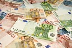 Vele bankbiljetten royalty-vrije stock afbeelding