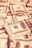 Vele bankbiljetten van $ 100 Royalty-vrije Stock Foto's