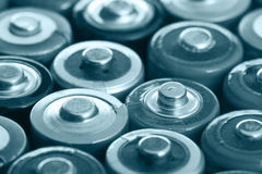 Vele batterijen Stock Foto's
