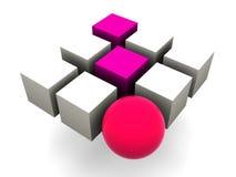 Vele blokken vector illustratie