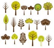 Vele bomen, vector Royalty-vrije Stock Afbeeldingen