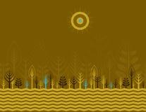 Vele bomen, vector royalty-vrije illustratie