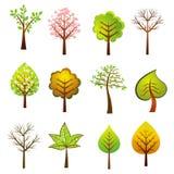 Vele bomen, vector Stock Fotografie