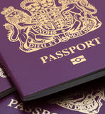 Vele Britse Paspoorten Stock Fotografie