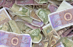 Vele Chinese rekeningen Yuan royalty-vrije stock foto's
