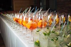 Vele cocktails bij een partij Royalty-vrije Stock Foto's