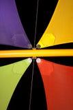 Vele Colourful dell'ombra contro cielo notturno Immagini Stock