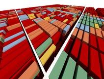 Vele container Royalty-vrije Stock Afbeelding