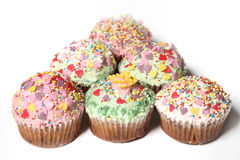 Vele cupcakes of kleine cakes Stock Foto's