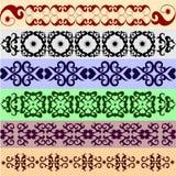 Vele decoratieve elementen Royalty-vrije Stock Afbeeldingen