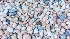 Vele decoratieve stenen als steentexturen stock foto's