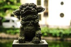 In vele delen van China hebben de steenleeuwen Stock Afbeeldingen