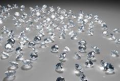 Vele diamanten op de vloer Royalty-vrije Stock Foto