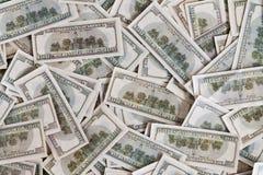 Vele 100 dollarsachtergrond Royalty-vrije Stock Foto's