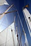 Vele e sartiame sulla nave del aclipper Immagine Stock
