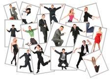 Vele foto's van mensen, collage Stock Fotografie