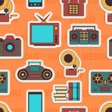 Vele functies draagt een moderne mobiele telefoon naadloos stock afbeeldingen