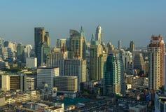 Vele gebouwen in Bangkok Stock Foto's