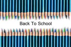 Vele gekleurde houten potloden Stock Foto's