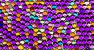 Vele gekleurde hydrogelparels stock afbeelding