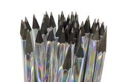 Vele gescherpte potloden klaar voor het schrijven royalty-vrije stock fotografie