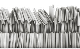 Vele gestapelde boeken falling3d geven terug Velen het gestapelde gekleurde boeken vallen royalty-vrije illustratie