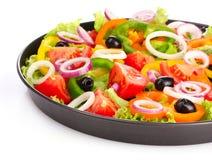 Vele groenten in een pan Stock Afbeeldingen
