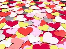 Vele harten Stock Afbeelding